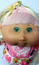"""Cabbage Patch Kid Girl White Hair Braids Pink Stripe Green Eyes 2006 16""""... - $16.99"""