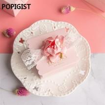 POPIGIST® Creative Pink Flower Wedding Favors DIY Candy Boxes Bomboniera... - $34.73
