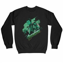 Avengers Endgame Hulk Adults Unisex Black Sweatshirt - $31.34
