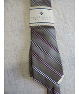 $59.00 Ryan Seacrest Distinction Mulholland Stripe Tie, 100% Silk - $9.85