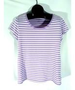 Mix & Co Womens Striped Purple Shirt XL AA1 - $9.99