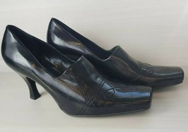 "Franco Sarto Women's 7.5 Medium Black Closed Toe 3"" Heels Career Busines... - $11.88"