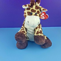 "Ty Pluffies TipTop Giraffe 2006 Plush 11"" Stuffed Bead Eyes  - $29.70"