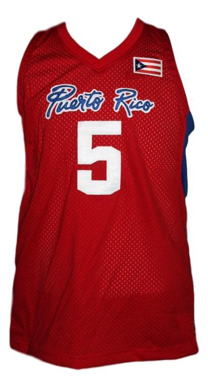 J.j. barea  5 puerto rico custom basketball jersey red   1