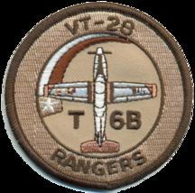 US NAVY VT-28 RANGERS T-6B SHOULDER PATCH, DESERT- NO VELCO NEW!!! @ - $11.87