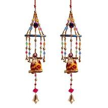 HANDICRAFTS PARADISE Men's Door Hanging Set Of 2 Dolls With Fancy Beads ... - $43.94