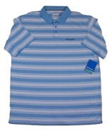 NWT Columbia Big & Tall Utilizer Stripe Polo Shirt Men's XLT 100% Polyester - $32.16