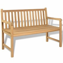 "vidaXL Teak Outdoor Bench 47.2"" Patio Chair Backyard Seat Garden Furniture - $155.99"
