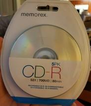 Memorex CD-R 5 Pk,  52x / 700Mb / 80 min - $18.49