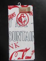 Coca-Cola Red Print Dishtowel - Nwt Free Shipping - $13.86