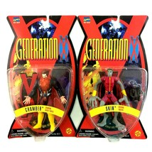 Generation X Marvel 1995 ToyBiz 2 Figure Lot Chamber Skin - $24.70