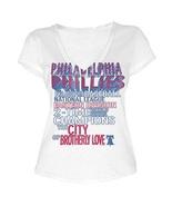 MLB  Woman's Philadelphia Phillies WORD White Tee with  City Words L - $15.99