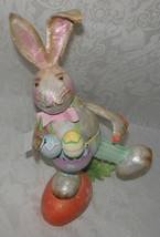 Whimsical Easter Bunny Figurine Table Centerpiece Decoration NWT FREE SH... - $26.72