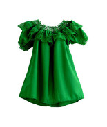 Women's Color Off-Shoulder Ruffle Top Lace Ribbon Mexico Folklorico Fies... - $30.00+