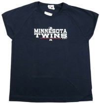 Women's Minnesota Twins Shirt MLB Authentic Collection Cap Sleeve Tee T-Shirt