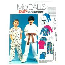 McCalls Sewing Pattern Children Easy Top Short Pant Karate 3 to 6 Boy Gi... - $6.97