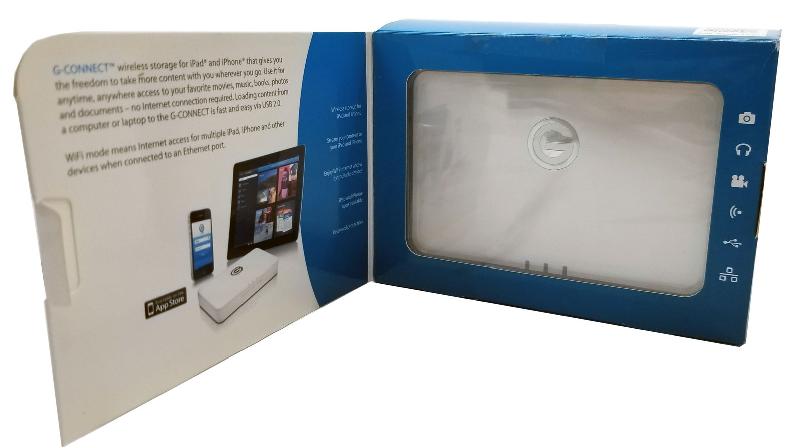 G-Technology G-Connect 500GB Wireless Storage for iPhone/iPad Bin:SF