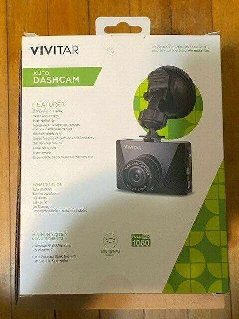 Vivitar Auto Dashcam Video Recording System Full HD 1080 DCM-110N-NEW