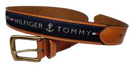 Tommy Hilfiger Men's Premium Ribbon Inlay Anchor Logo Leather Belt 11TL02X032 image 14