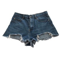 Womens Forever 21 Size 28 Distressed High Rise Denim Shorts Destroyed Waist - $4.94