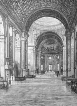 ITALY Mantua Interior Church of San Andrea by Alberti - 1888 Original Print - $30.60