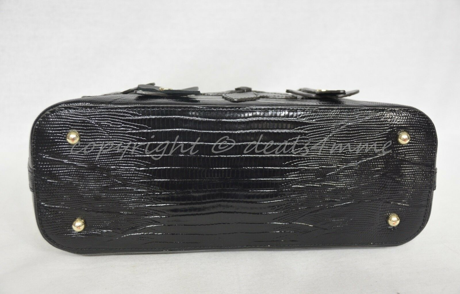 NWT Brahmin Mini Asher Satchel/Shoulder Bag in Black Miramonte-Cream with Black image 9