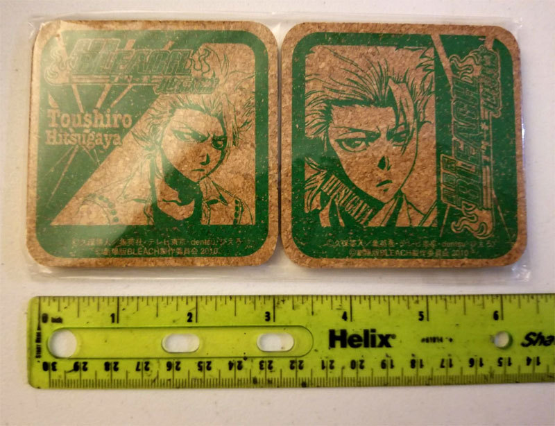 "Bleach ""Toushiro Hitsugaya"" Set of (2) Cork Coasters * Anime * Pierrot"