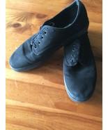 VANS Solid Black On Canvas Skateboarding Shoes Sz 6.5 (Men's) 8 (Women's... - $14.84