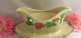 New Franciscan Desert Rose Gravy Boat With Fast Stand Serving Piece Grea... - $19.99