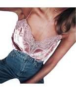 Elegant Lace Velvet Women Camisole Silk Tops - $15.38