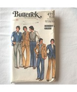 Vintage 1970s Butterick Sewing Pattern 3 Pc Leisure Suit 4711 Robert L G... - $14.95