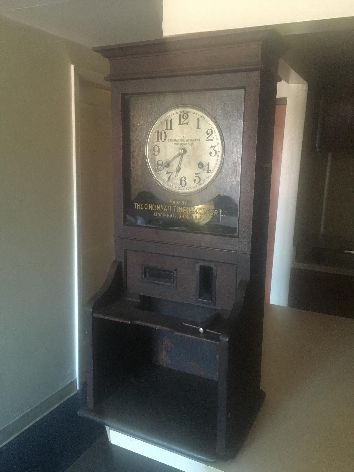 Antique Oak Cincinnati Time Recorder Company and 50 similar