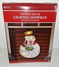 "Impact 16"" Lighted Jolly Snowman Christmas Window Decoration Indoor/Outdoor - ₨1,299.01 INR"