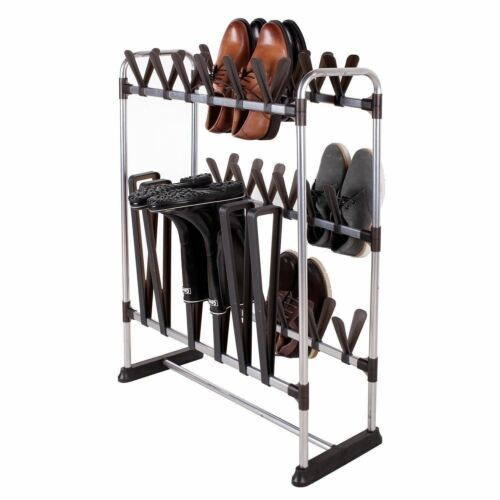 NEW 24 Pair Shoe Storage Rack 3 Pair Boots Rain Tall Boot Organizer Closet Space
