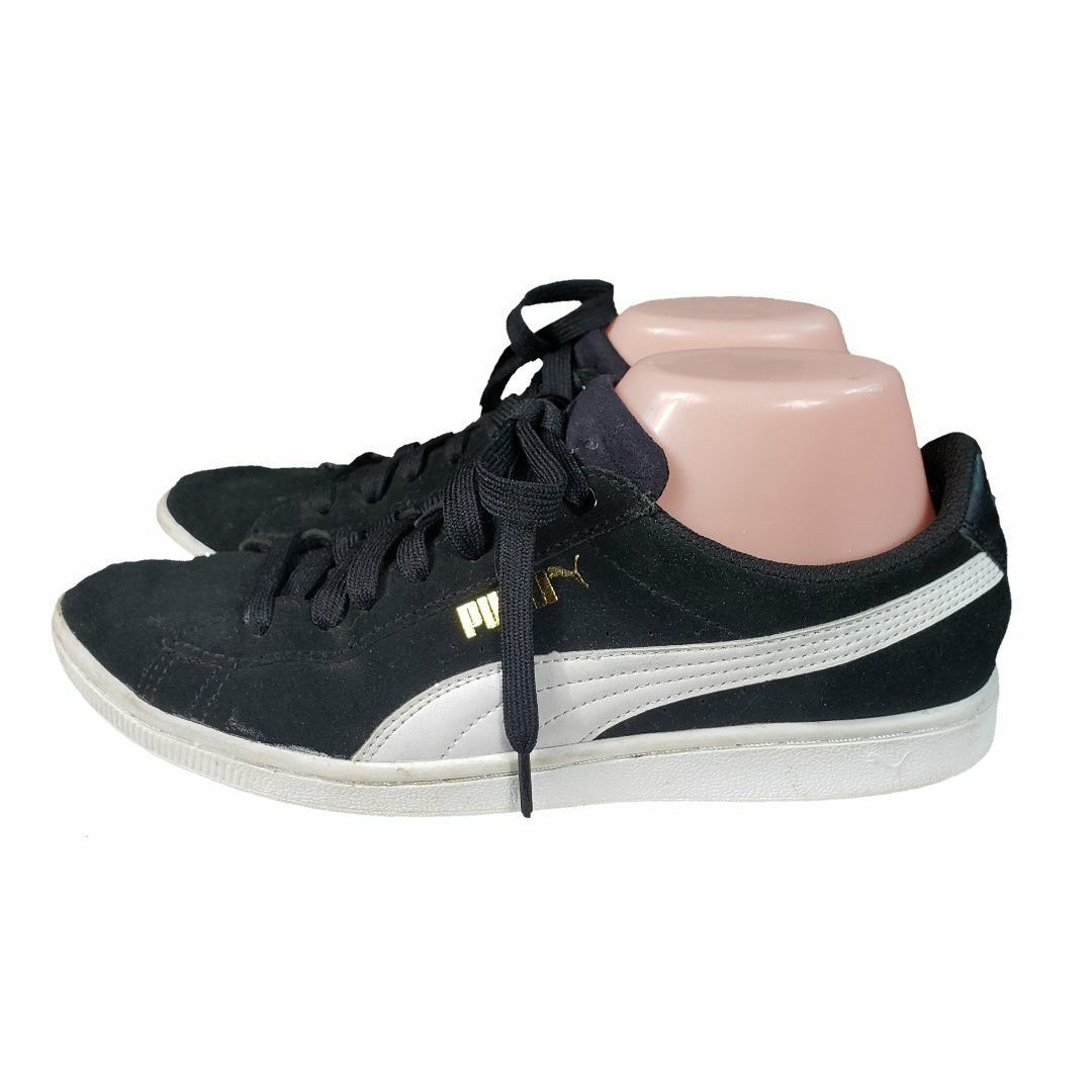 501589411bd Womens Puma Vikky LS Leather Black Tennis Athletic Shoes Size 6.5