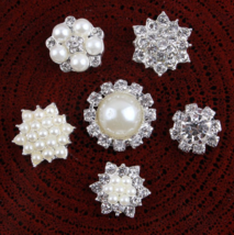 10pcs Flower Hairwear accessories Buttons,Girl Dressing Decorated Buckles - $14.70 - $14.80