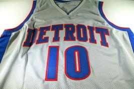 DENNIS RODMAN / NBA H.O.F. / AUTOGRAPHED DETROIT PISTONS CUSTOM JERSEY / BECKETT image 2