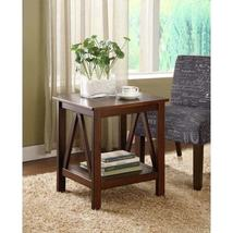 Linon Tiziano Modern Side Table Aged Cherry Living Room Furniture - $120.99
