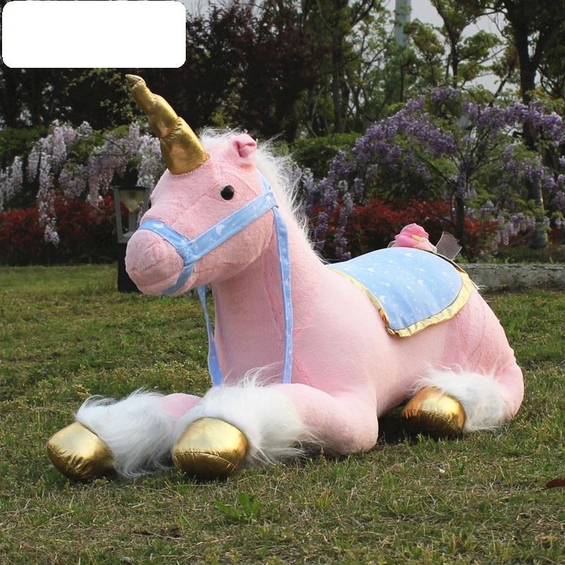 """85 cm Soft Giant Plush Jumbo Large pink Unicorn Toy Stuffed Animal Doll 33.5/"""""""