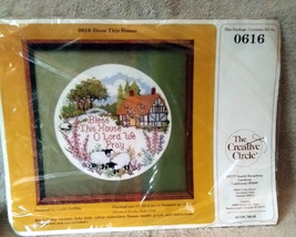 Bless This House Kit 0616 Creative Circle 14 Count Embroidery Needlework Design  - $15.00