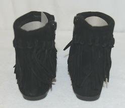 I Love Yo Kids AVA 92T Girls Fringe Boot Black Zip Up Size Seven image 4