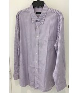 BOBBY JONES COTTON DRESS SHIRT XL LIGHT PURPLE STRIPED NWT - $21.23