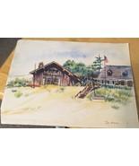 Beach House Watercolor De Mar - $9.49