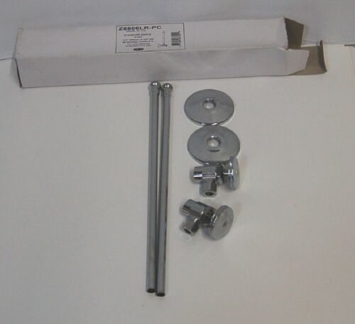 Zurn Z8806LRPC Lavatory Supply Kit Standard Angle Stop Chrome Plated