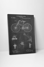 Bicycle 1890 Patent Print Gallery Wrapped Canvas Print - $44.50+