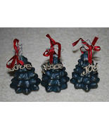 "Christmas Ornaments Decorations Ceramic Pottery Trees Love Peace Joy 4.5""  - $14.80"