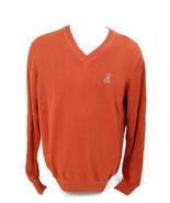 Psycho Bunny By Robert Godley Men's Pima Cotton V-Neck Sweater Rust Oran... - $55.50