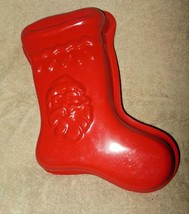 AMETALURGICA HEAVY GAUGE NON STICK CHRISTMAS STOCKING CAKE PAN MOLD  - $19.99