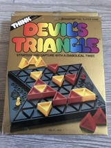 Pressman Vtg Devil's Triangle 2 Player Strategy Game Think Series 1986 C... - $14.85