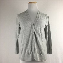 Gap Women's Gray Longsleeve V-Neck Button Front Cardigan Sweater Size Me... - $21.56 CAD